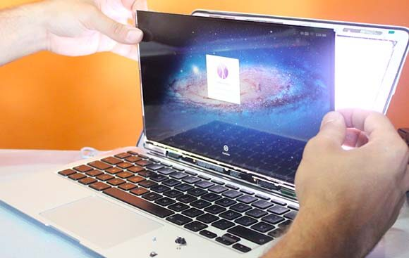 como reparar una pantalla del macbook air
